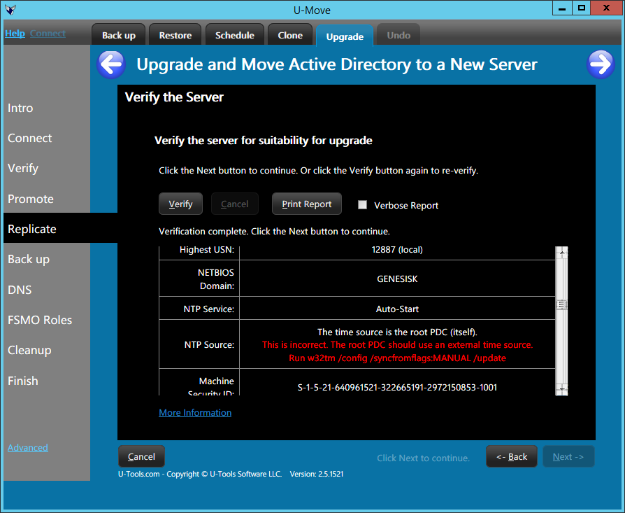 Upgrade Active Directory Domain Controllers | U-Move