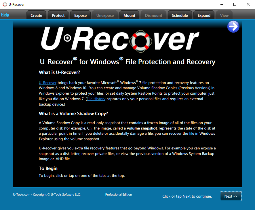U-Recover Welcome